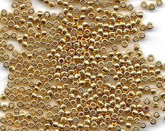 8/0 Permanent Metallic Gold P471, Japanese Glass Seed Beads, 28g.