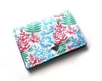 Floral business card holder fabric credit card holder business card case small gifts for coworker gift for friend