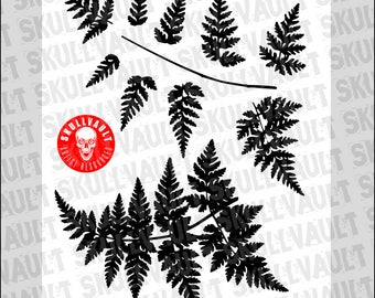 Fern Vector Silhouettes