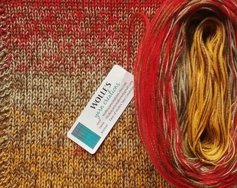 MARIGOLD SILK Medley - Color Changing Cotton/Silk yarn - 480 yards/100 gr - Fingering Weight
