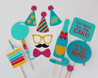 Birthday Party Celebration Photo Booth Props