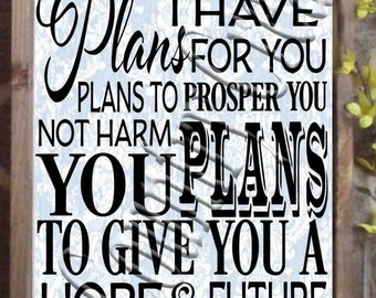 For I know the plans   Jeremiah 29:11  SVG, PNG, JPEG
