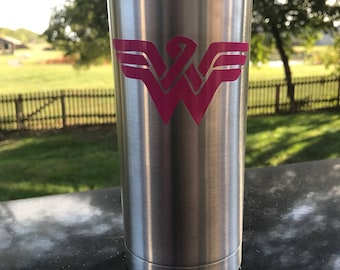 Breast Cancer Wonder Woman inspired Tumbler