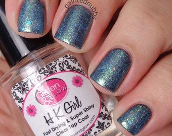 Snow Dusted Pines - Custom Winter Interference Iridescent Glitter Nail Polish