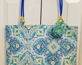 Blue, Green and Yellow Tote