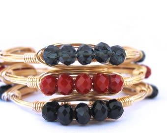 Wire Crystal Bangle | Wire Bangle | Stackable Bangles | Bangles | Crystal Bangles | Wire Stone Bangles | Wire Bangle Bracelet