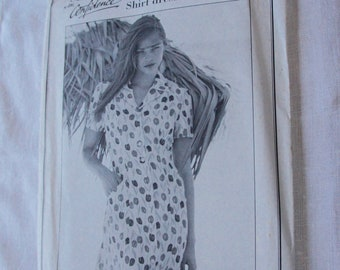 Vintage, Sewing With Confidence, Women's, Clothing, Shirt, Dress, Retro, Fashion, Sewing, Pattern, Size U.K. 10-22, Hipster, Summer, Teen