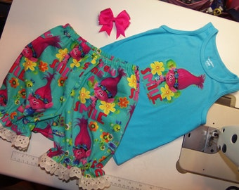 3pc Bloomer Set NEW Gnome Trolls  Smile  Baby Toddler   Girls    Size 4t/5t   Ready to ship