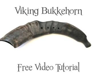 Bukkehorn Viking Norwegian Goat Horn Instrument Prillarhorn, Minor Scale