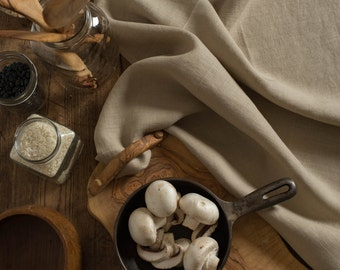 Linen Tea Towel Khaki