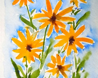 Black-eyed Susan Watercolor Notecard