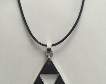 Legend of Zelda Triforce Necklace, Zelda Necklace, Zelda, Zelda Pendant, Zelda Jewelry, Legend of Zelda, Necklace, Silver Necklace, Jewlery