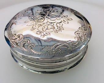 Antique Silver Pill Box