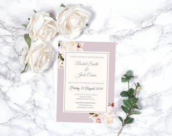 Floral Wedding Invitation – Personalised – A5