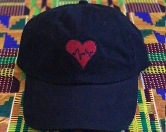 Heartbeat Heart Dad Hat