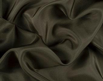 "45"" Wide 100% Silk Habotai Moss Green-Wholesale by the Yard (2000M141)"