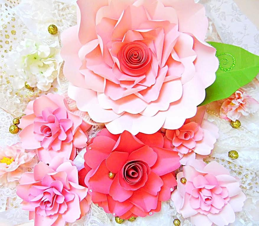 Easy Paper Flower Tutorial with Templates, SVG flower cut files ...