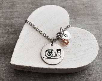 Sully the snail, Snail, Insect, Silver Snail, Snail Necklace, Snail Jewelry, Teenager, Silver Necklace, Charm Necklace, Entomology, Gift for