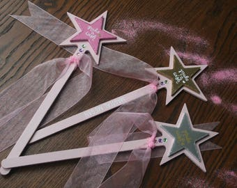 Wooden personalised fairy wand