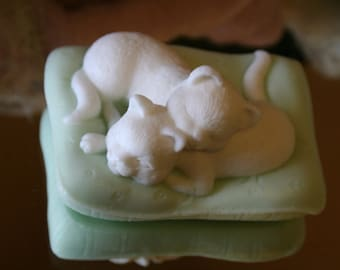 Sleeping Kittens~Sleeping Cats~Kitten Soap~Cat Soap~Decorative Soap~Handmade Soap~