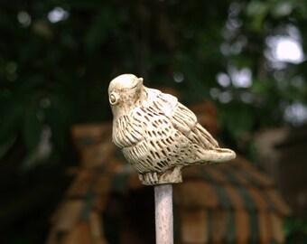 Bird 2 - ornamental garden cane topper