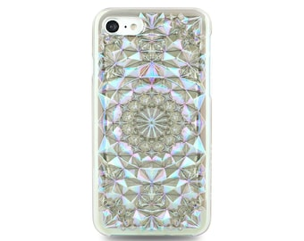 Clear Cosmic Holographic Kaleidoscope iPhone 7 Case and iPhone 8 Case // Holographic Transparent Blue and Purple Iridescent iPhone 7/8 Case