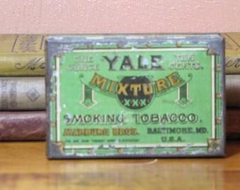 Vintage Yale Mixture Smoking Tobacco Tin