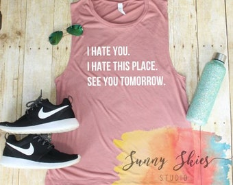 workout shirt women, funny workout shirt, muscle tank, flowy tank top, novelty shirts for, trainer, crossfit, spin class, festival wear
