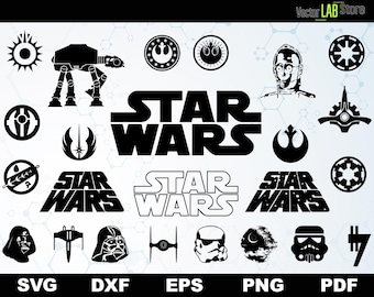 Star Wars Vector Cutting Files Shirt Svg Dxf Eps Png Pdf Files for Silhouette Cameo or Cricut Kylo Ken Art Darth Vader Cutting Machine 007