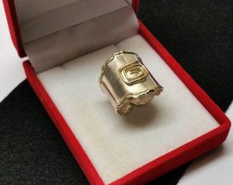 20 mm ring Silver part gilded nostalgic SR1007