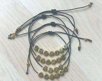 Customize message bracelets