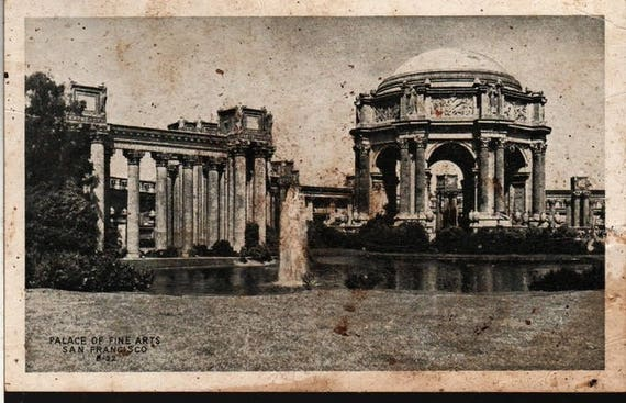 Palace of Fine Arts + San Francisco, California + J. C. Bardell + Vintage Photo Postcard