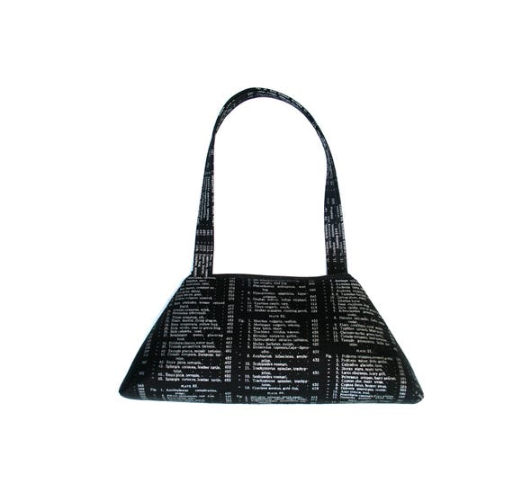 SALE!! SMALL Retro Tote, textbook, black, metallic, structured bag, vintage inspired