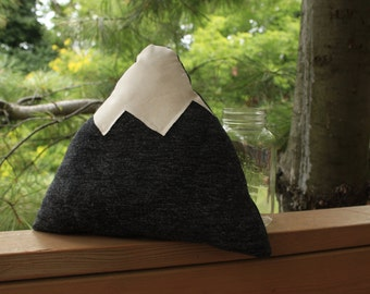 "Mountain Pillow - 12"" cozy throw pillow"