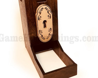 Mysterious Door Dice Tower, Dice Tower, Wood Dice Tower, Door Dice Tower