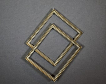 10x12 Frame Gold Wood with Optional Glass and Matting Complete Kit