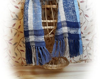 Handwoven Stormy Silky Scarf