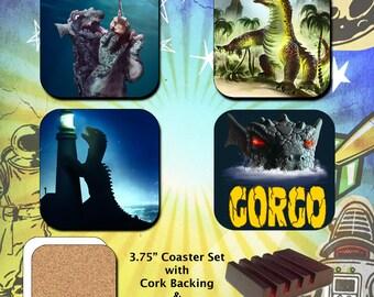 Gorgo / Beast from 20,000 Fathoms / Monster / Coaster Set