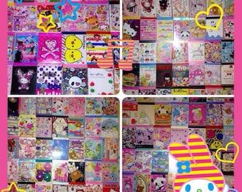 100 pc Kawaii Mini Memo Sheet Grab Bag VARlETY PACK Lot *NO REPEATS* Crux Sanrio Q-Lia San-X Japan Scrapbooking Planner Kids School Supplies