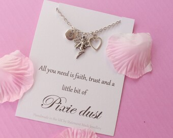 Pixie necklace, pixie jewellery, pixie dust necklace, angel Message card necklace,  inspirational message necklace, ,, , mothers day gift