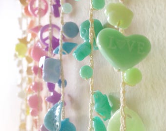 Pastel Rainbow Lightcatcher, pastel decor, rainbow baby, nursery decor, fairy kei decor, pastel home decor, girls bedroom, pastel goth
