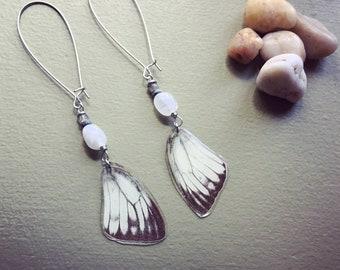 Butterfly jewelry. Resin jewelry. Ethical fashion. Gemstone jewelry. Cruelty free. Gypsy jewelry. Statement earrings. Boho chic. Butterfly.