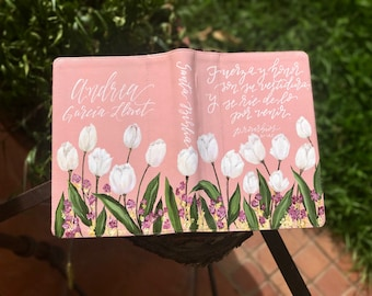 Hand Painted Bible // 'Tulips'