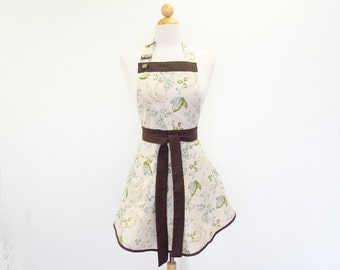 Green Leaf Linen Full Apron