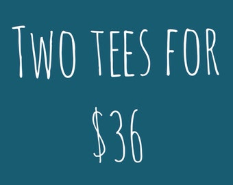 2 For 36 Short Sleeve T-Shirts