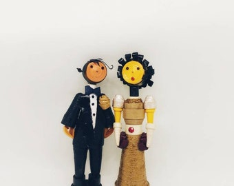 Quilled bride and groom