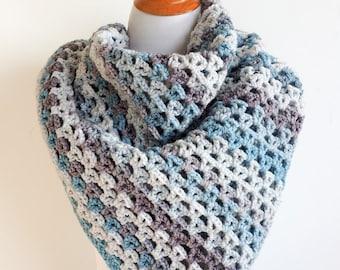 Cotton Shawl Women, Evening Shawl, Easy Crochet Pattern, Boho Shawl, Oversized Scarf Pattern, Chunky Scarf, Beach Shawl