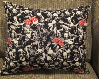 Zombie Pillow, Walking Dead Pillow, Halloween Pillow, Scary Pillow, TV Room Pillow, Theater Room Pillow, Walker Pillow, Man Cave Pillow