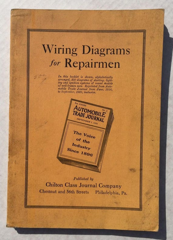 1928 auto wiring diagrams for repair vintage shop manual rh etsy com