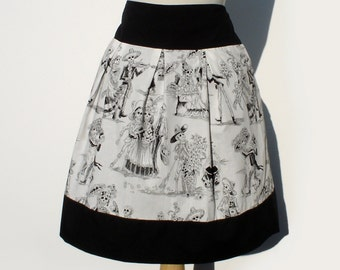 Day of the Dead Paseo de Muertos Skirt